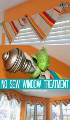 How to make a No Sew Window Treatment using pillow covers |  OHMY-CREATIVE.COM