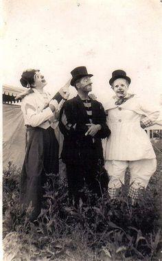 clowns in hats