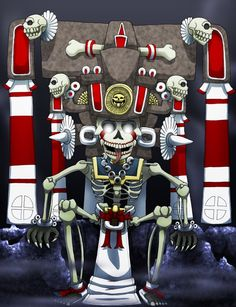 Mictlantecuhtli by ~Shi-Gu on deviantART