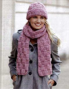 Maggie's Crochet · Noggins and Necks #crochet #pattern #scarf #hat #set #warm #cute #fashion