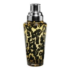Leopard Print Glass Cocktail Shaker