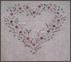Hearts of Winter - finished embroidery
