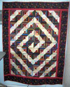 spiral log cabin quilt