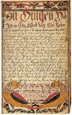 A religious poem produced in Bucks County, PA in 1785