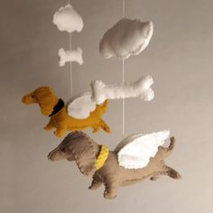 Wiener dog baby mobile