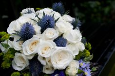 WEDDING FLOWERS    Scottish themed wedding bouquet with thistles.  Graham Young Photography. Beautiful & timeless wedding photography across London, Kent and Sussex