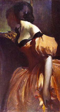 John White Alexander, Fancy Dress, circa 1894/1895