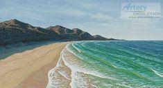 Artecy Cross Stitch. Beach Cross Stitch Pattern to print online.