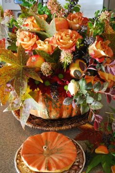 A Pumpkin Vase Centerpiece | Home is Where the Boat Is