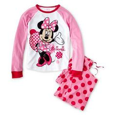 Minnie Mouse pajamas at JCP.