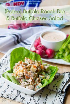 {Paleo} Buffalo Ranch Dip & Chicken Salad + Giveaway #chicken #paleo #diet #recipes paleoaholic.com