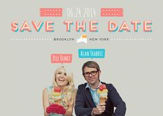 This may be the cutest engagement/wedding party save the date invitation ever.