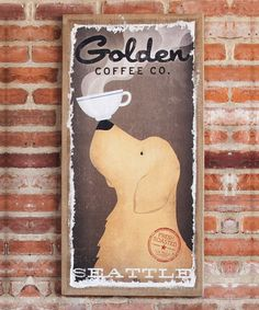 Take a look at the 'Golden Coffee Co.' Burlap Canvas on #zulily today!