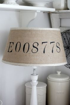 Lampshade with numbers