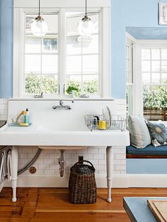 loving this farmhouse sink for the kitchen #hgtvmagazine http://www.hgtv.com/kitchens/one-of-a-kind-kitchen-design/pictures/page-9.html?soc=pinterest#
