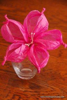 Day #314 - Tissue Paper Flowers - Meaningfulmama.com