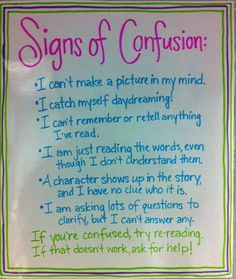 idea, anchor learn, reading workshop anchor charts, educ stuff, read anchor, teach, metacognition anchor charts, confus, literacy charts