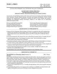 Public School Administrator Resume 30.04.2017