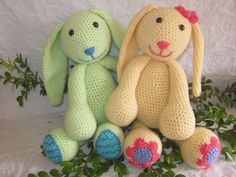 Ravelry: Daisy and Minty the Spring Bunnies pattern by Melissa Trenado.