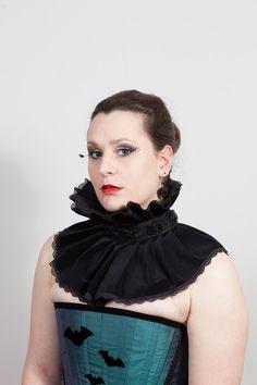 gothic velvet lace neck ruff collar. £34.99 http://www.emeraldangel.co.uk/gothic-neck-ruff-collar.html
