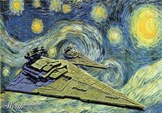 Empire, Empire Night. Awesome Star Wars rendition of the Van Gogh classic!