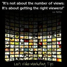 The number of video views you get (on YouTube) is not nearly as relevant as WHO is seeing your video.  Focus on getting seen by YOUR target audience.  When it comes to video views, it's the quality of your audience, not the quantity.  Find more tips and resources at http://www.loubortone.com