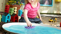 DIY Children's Play Pond by lowescreativeideas: Simply and affordably made from a water heater drip pan! #DIY #Play_Pond