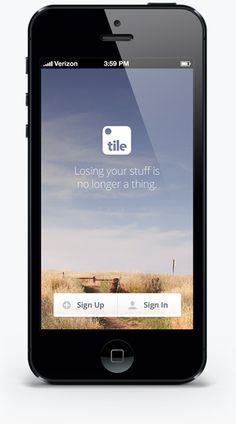 tile to put on stuff you lose.  find with ios device