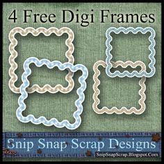 Snip Snap Time to Scrap: Free Brown and Tan Curvy Digi Scrapbook Frames