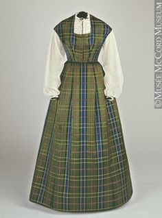Dress, 1860, looks like something an average woman would wear at home.