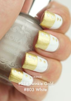 gold/white nails