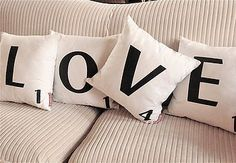 Scrabble letter pillows