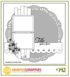 Cricut Inspired Scrapbook Layouts: Cricut CUT Files for this layout