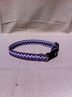 CAT COLLAR-Handmade Purple Chevron via Etsy