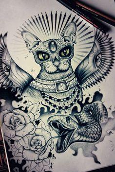 Awesome tattoo design by Eddie Ghetto - freelance ink/print designer. Lithuanian Tattoo Scene. #tattoos #design #ink #tattoo