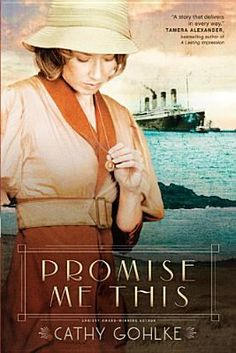 Promise Me This by Cathy Gohlke -- Michael Dunnagan was never supposed to sail on the Titanic, nor would he have survived if not for the courage of Owen Allen. Determined to carry out his promise to care for Owen's relatives in America and his younger sister, Annie, in England, Michael works hard to strengthen the family's New Jersey business. Annie Allen doesn't care what Michael promised Owen. She only knows that her brother is gone and the grief is enough to swallow her whole.... #books
