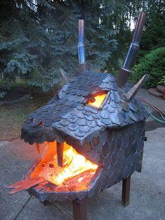 dragon fire pit, amazing