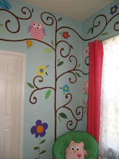 Amazing Tree House themed room for my two girls.