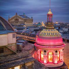 Lighted Dome, Paris, France  photo via travel