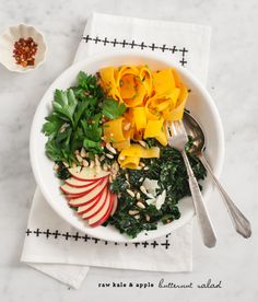 kale & apple butternut salad by @Jeanine DeOre DeOre | Love & Lemons