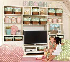 playroom storage, kid playroom, playroom design, tv room, shelv, bean bag chairs, kid room, bean bags, kids play rooms
