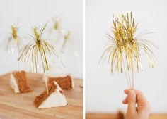 "I think I'll be making these Metallic ""Sparklers"" to use as dessert toppers or swizzle sticks on New Year's Eve."