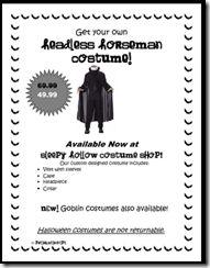 Costume shopping freebie!