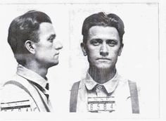 Charlie Mays, Vivian's paramour shot to death in Picher, OK 1926 photo is his mug shot into KS pen