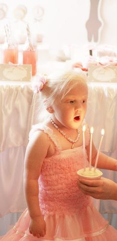 Girl ballerina birthday party candles LundynBridge Events