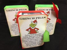 Christmas Grinch Pills Tic Tac Gifts by TheCuteandSpicyShop, $6.50