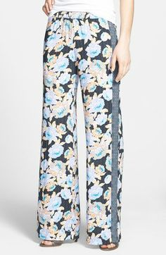 Ella Moss 'Delilah' Mixed Print Wide Leg Pants   Nordstrom
