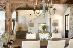 Tracery Interiors Lake House Alabama dining rm