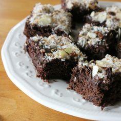 Paleo Almond Joy Brownies -- Gluten-free, dairy-free, grain-free, and honey-sweetened!