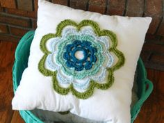 Summer Flower Pillow and another Free Crochet Pattern